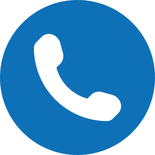 phone symbol of an auricular inside a circle